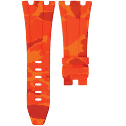 AP ROYAL OAK OFFSHORE 42MM TANG BUCKLE STRAP - ORANGE CAMO RUBBER
