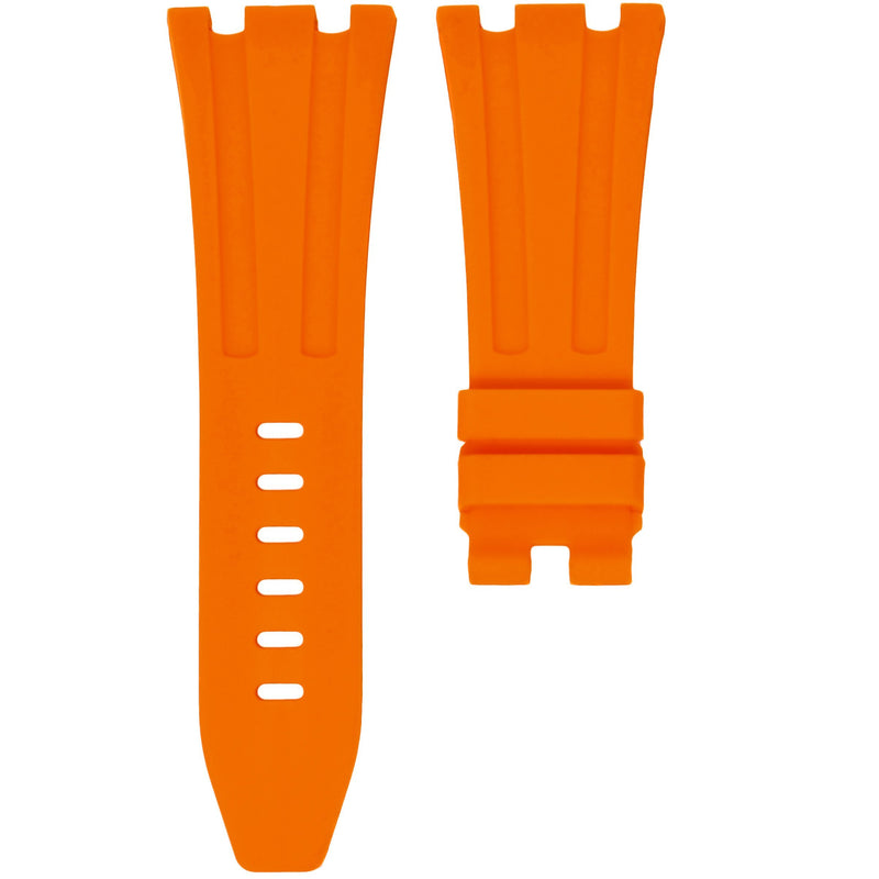 TANGERINE ORANGE RUBBER STRAP FOR AP ROYAL OAK OFFSHORE 42MM TANG BUCKLE
