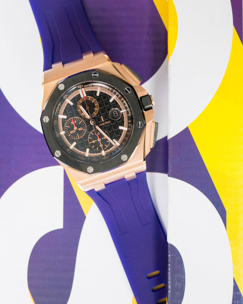 AP ROYAL OAK OFFSHORE 44MM STRAP - PURPLE RUBBER