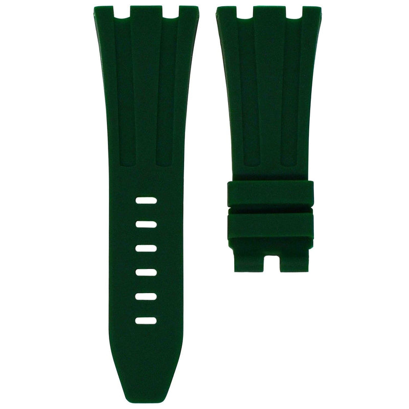 FOREST GREEN RUBBER STRAP FOR AP ROYAL OAK OFFSHORE 42MM TANG BUCKLE