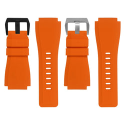BELL & ROSS BR-01 / BR-03 STRAP - ORANGE RUBBER