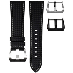 BREITLING TRANSOCEAN STRAP - CARBON FIBER / GREY STITCHING