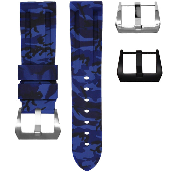 BREITLING FOR BENTLEY MOTORS T RUBBER STRAP - BLUE CAMO RUBBER