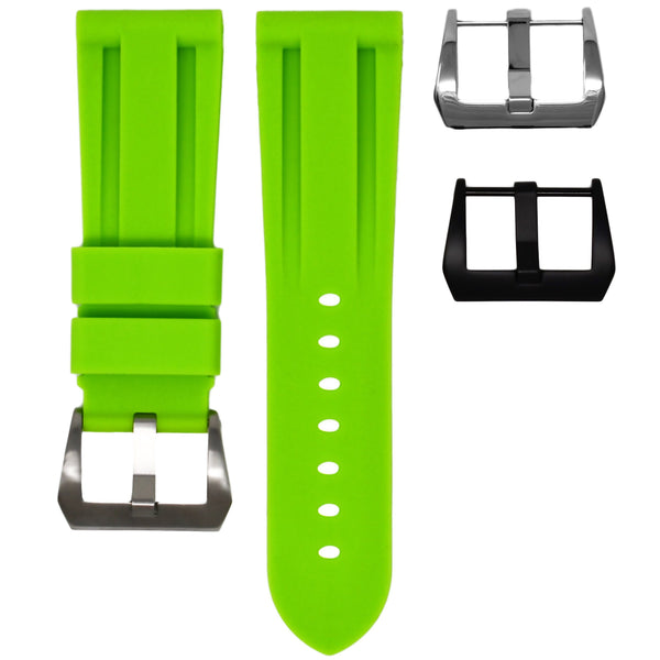 BREITLING TRANSOCEAN STRAP - LIME RUBBER