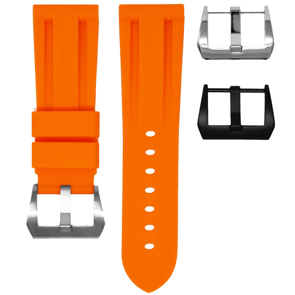 BREITLING SUPEROCEAN HERITAGE STRAP - TANGERINE RUBBER