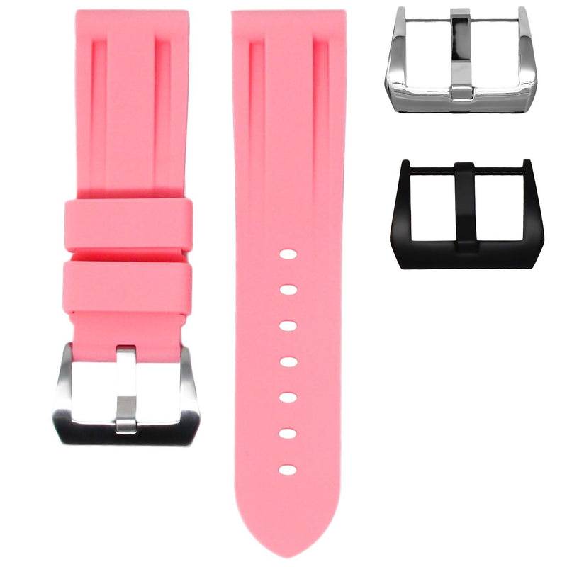 BREITLING SUPEROCEAN HERITAGE STRAP - FLAMINGO PINK RUBBER