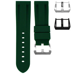 BREITLING TRANSOCEAN STRAP - FOREST GREEN RUBBER
