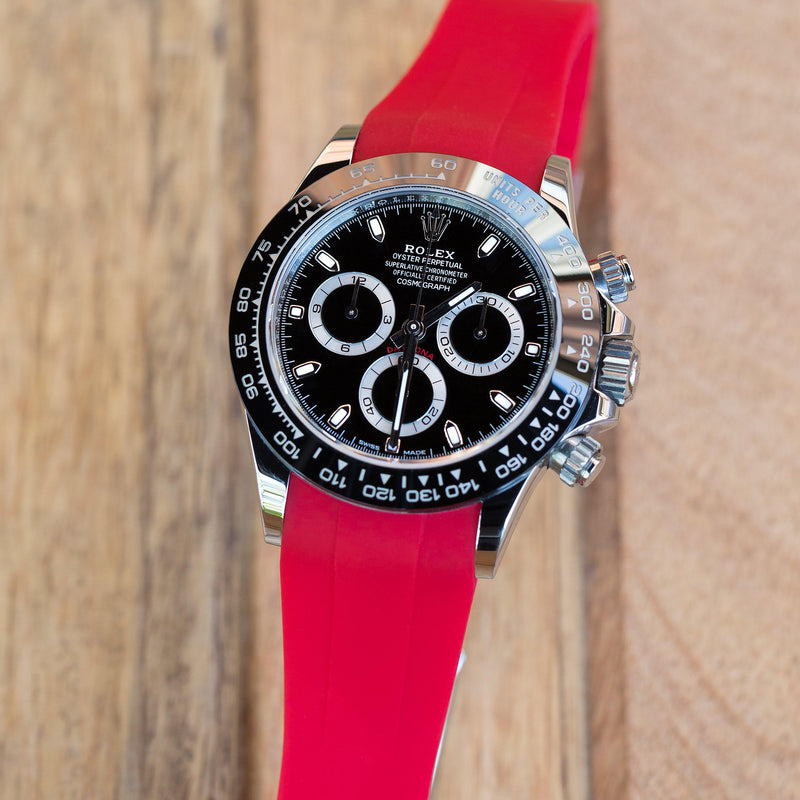 ROLEX DAYTONA STRAP - RED RUBBER