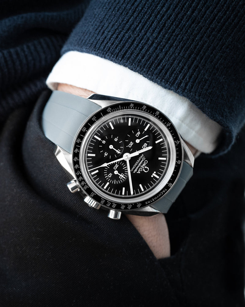 OMEGA SPEEDMASTER STRAP - GREY RUBBER