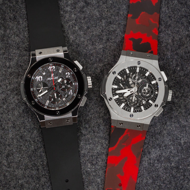 HUBLOT BIG BANG 44MM STRAP - RED CAMO RUBBER