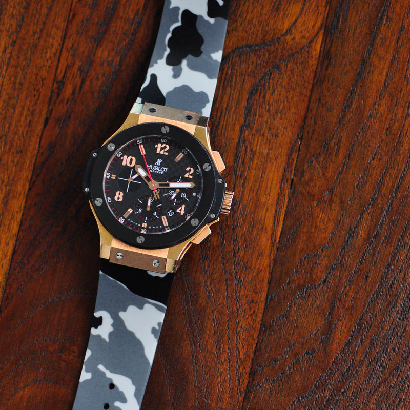 HUBLOT BIG BANG 44MM STRAP - SNOW CAMO RUBBER