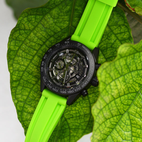 TAG HEUER CARRERA STRAP - LIME RUBBER