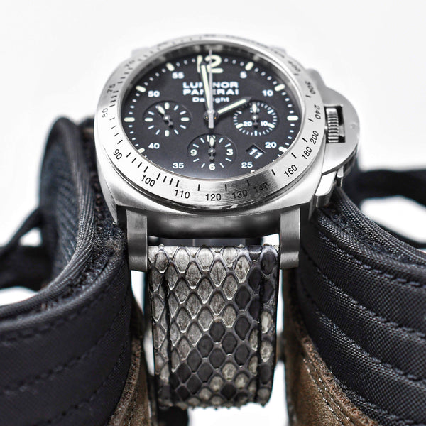 PANERAI LUMINOR STRAP - GREY / BLACK PYTHON