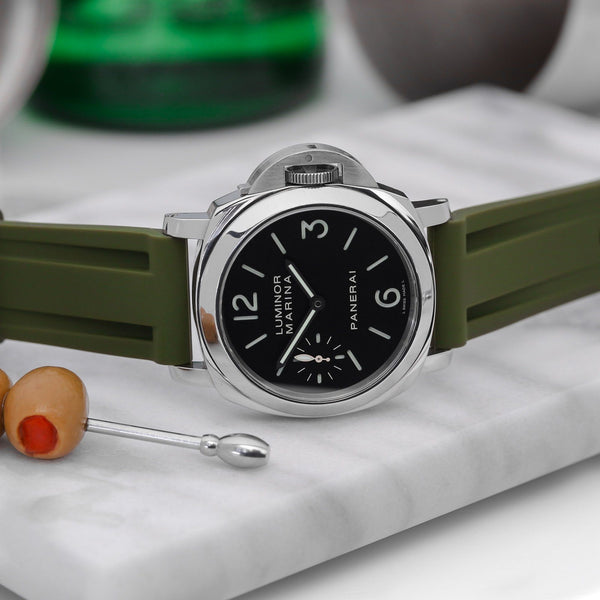 PANERAI LUMINOR STRAP - OLIVE RUBBER