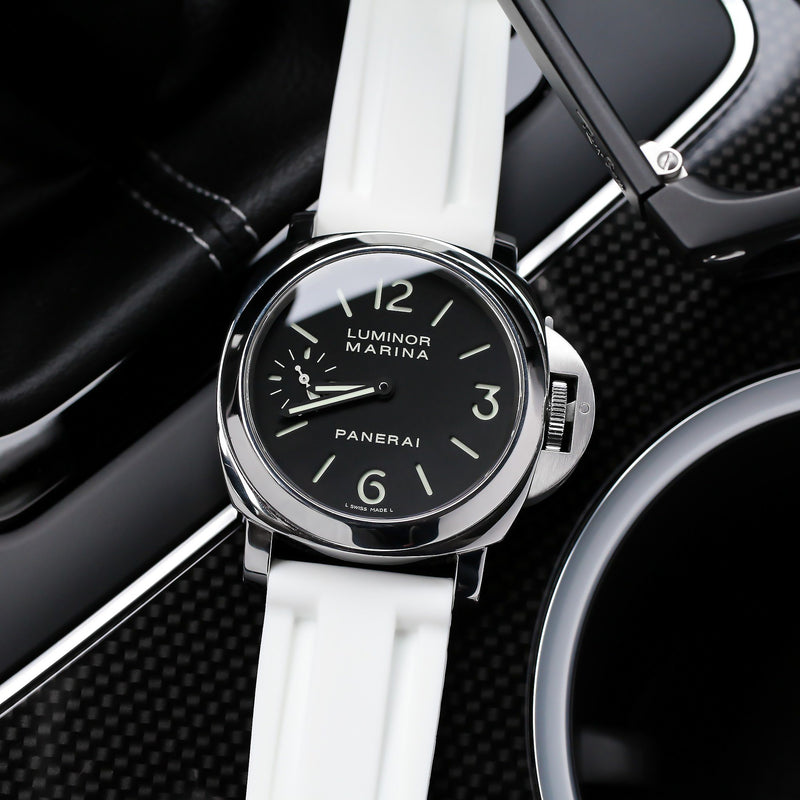 PANERAI LUMINOR STRAP - WHITE RUBBER