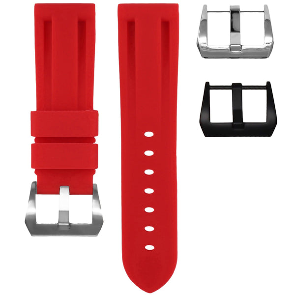 BREITLING TRANSOCEAN STRAP - RED RUBBER