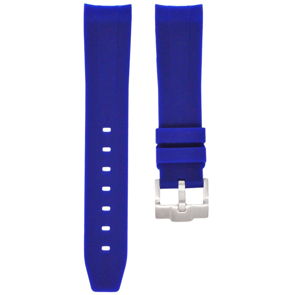 Blue Rubber Rolex Air King Strap