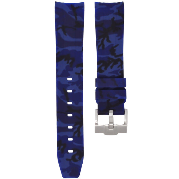 Navy Blue Camouflage Rubber Rolex Air King Strap
