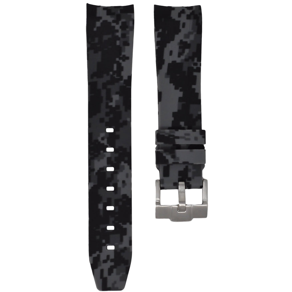 Graphite Digital Camouflage Rubber Rolex Air King Strap