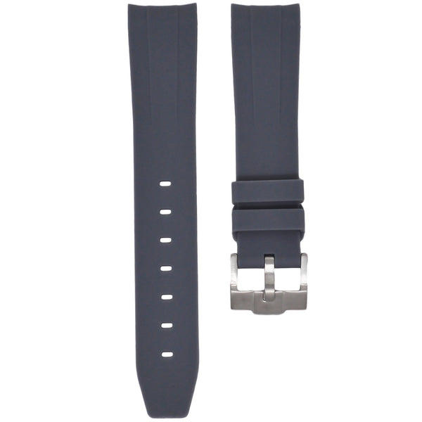 Grey Rubber Rolex Air King Strap