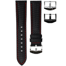ROLEX DATEJUST 36MM STRAP - CARBON FIBER / RED STITCHING