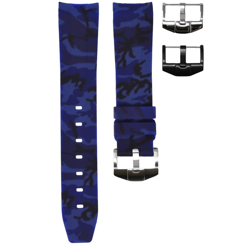ROLEX SEA-DWELLER 4000 STRAP - BLUE CAMO RUBBER