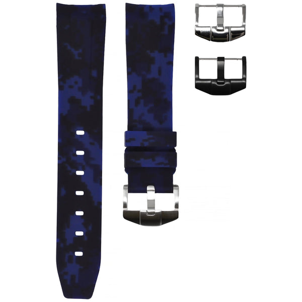ROLEX SEA-DWELLER 4000 STRAP - BLUE DIGI CAMO RUBBER