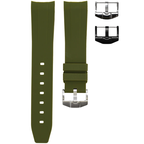 ROLEX DATEJUST II STRAP - OLIVE RUBBER