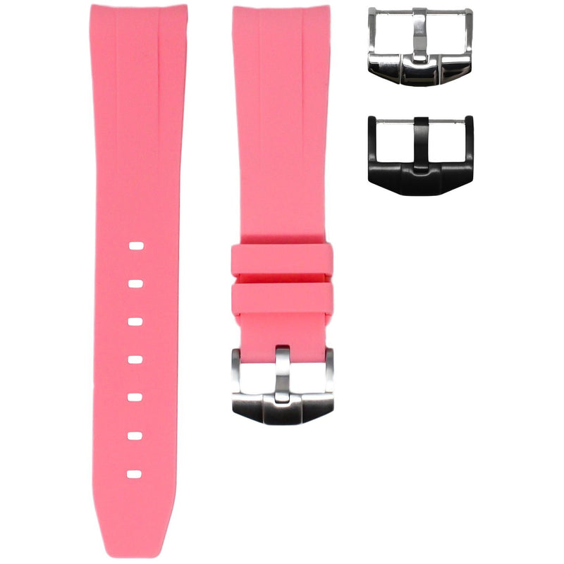 ROLEX DAY-DATE II (41MM) STRAP - FLAMINGO PINK RUBBER