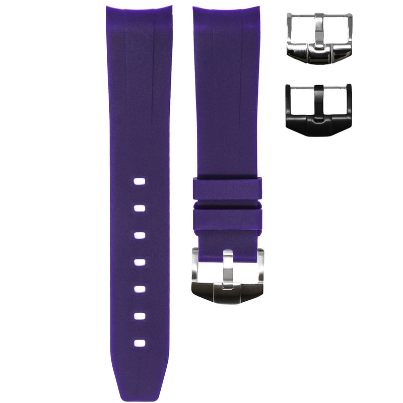 ROLEX EXPLORER II STRAP - ROYAL PURPLE RUBBER