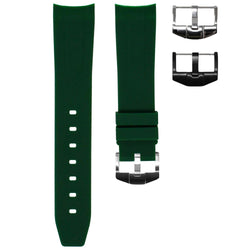 ROLEX DAY-DATE 36MM STRAP - FOREST GREEN RUBBER