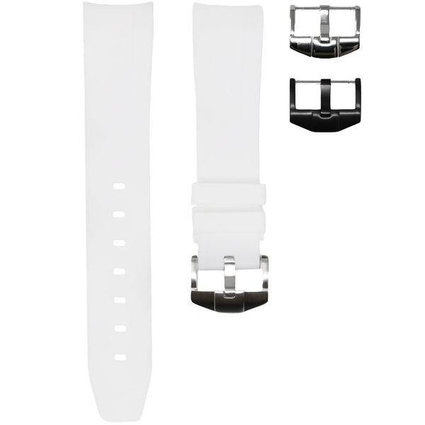 ROLEX DAY-DATE II (41MM) STRAP - WHITE RUBBER