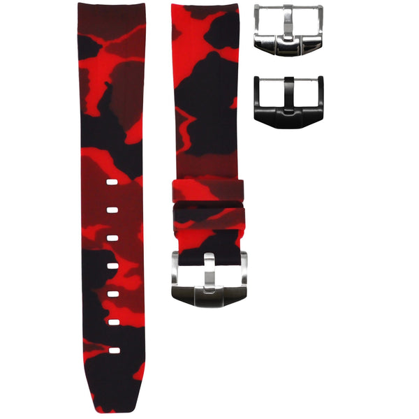 RED CAMO OMEGA PLANET OCEAN 600M 42MM STRAP