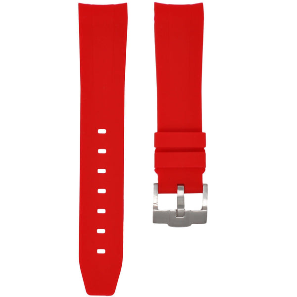 Red Rubber Rolex Air King Strap