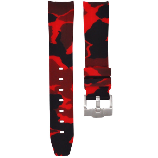 Red Camouflage Rubber Rolex Air King Strap