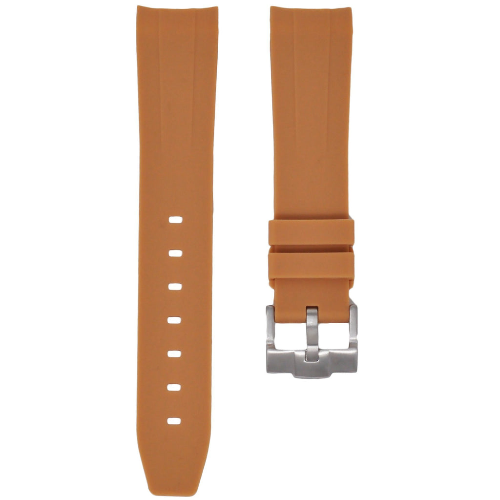 Tan Rubber Rolex Air King Strap