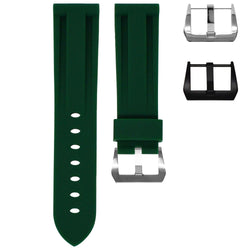 TAG HEUER MONACO STRAP - FOREST GREEN RUBBER