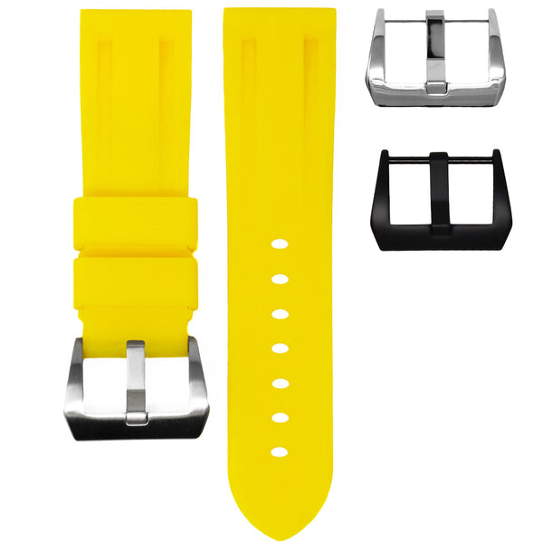 24MM LUG WIDTH STRAP - YELLOW RUBBER