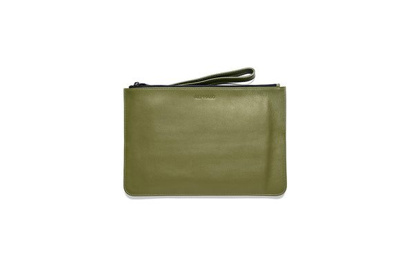 Leather Clutch Green