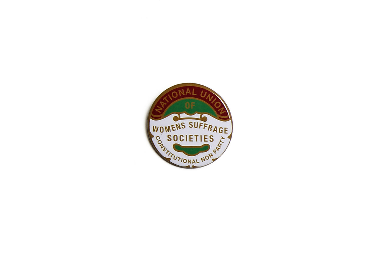 Suffragette Union Gold Text Badge
