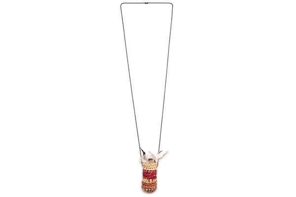 Cassie Leatham Feather Basket Necklace