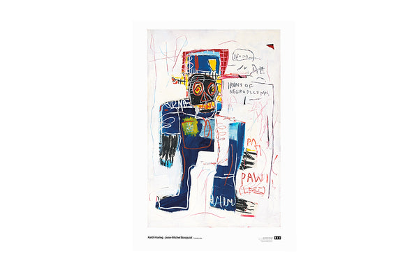 Poster Irony of a Negro Policeman 1981 Jean-Michel Basquiat