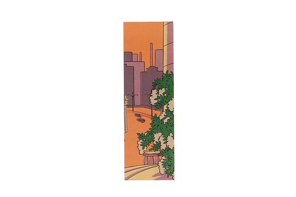 Orange Purple City Bookmark