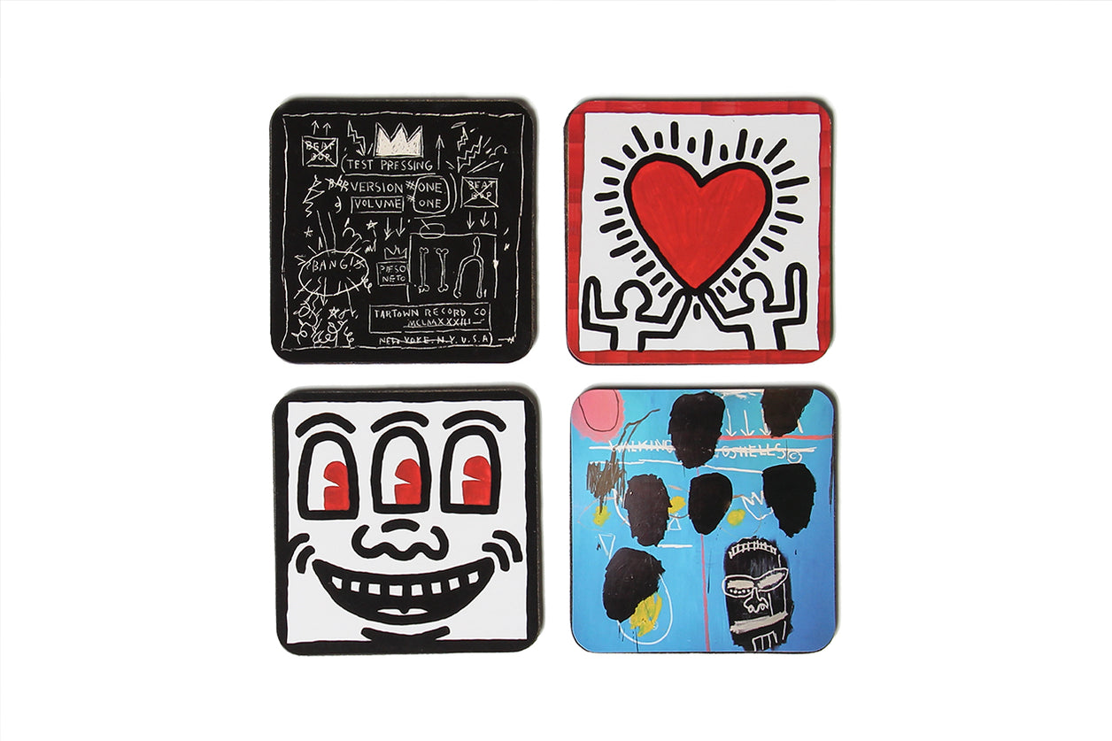Coaster Set Keith Haring Jean-Michel Basquiat