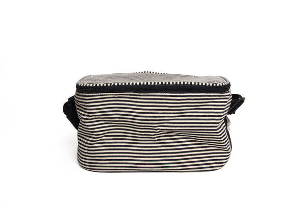 Cooler Bag Navy White Stripe small