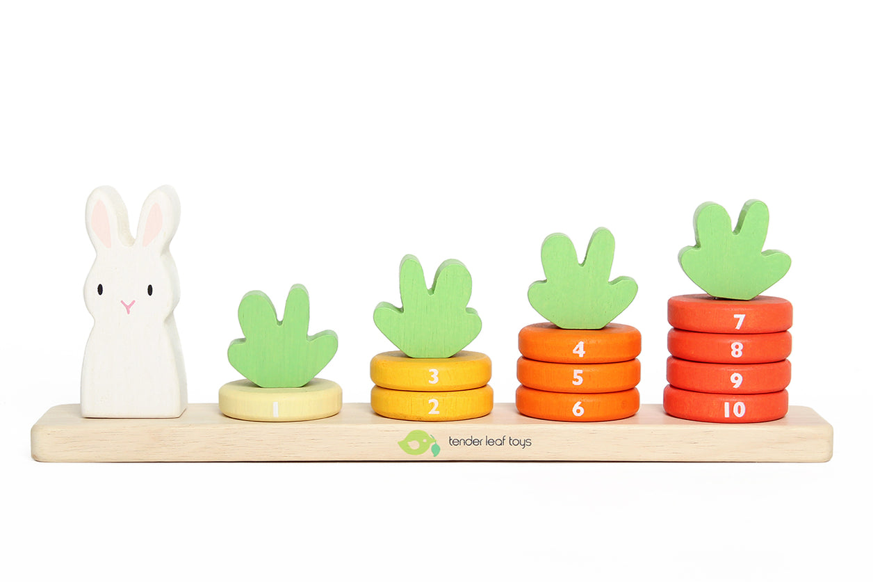 Counting Carrots Wooden Stacking Toy