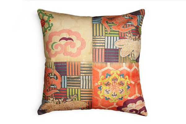 Orange Kimono Square Cushion Cover