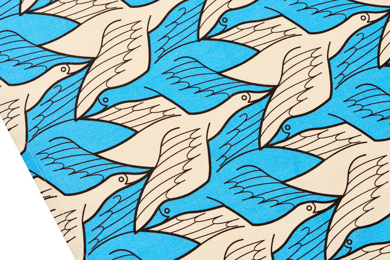 Tea Towel (Two birds) Regular division of the plane no. 18 M. C. Escher