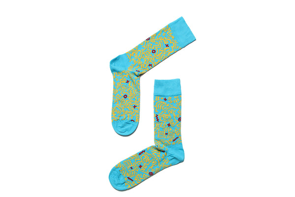 Sock Untitled Blue Keith Haring
