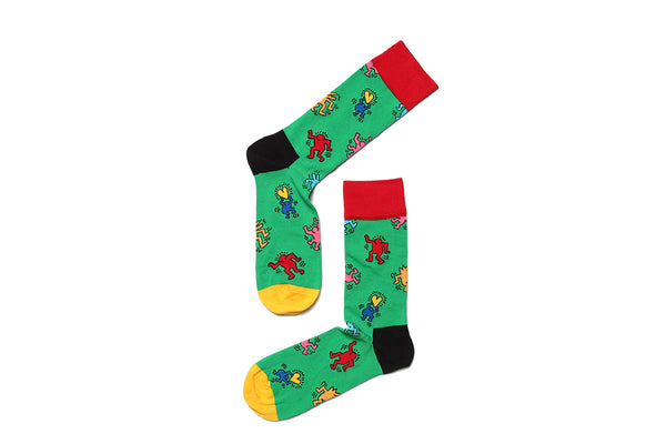 Sock Dancing Green Keith Haring